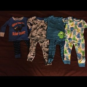 Lot of monster and knight pajamas